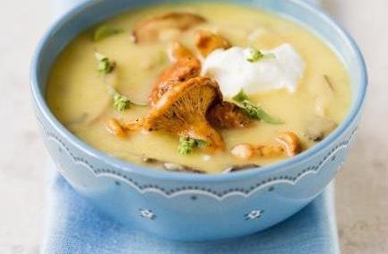 вкусняшки фото | Картофельный суп-пюре с грибами