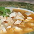 Суп с курицей и помидорами