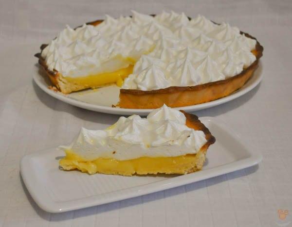 Лимонная тартинка с белковым кремом