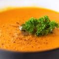 Суп-пюре из моркови и зеленого горошка