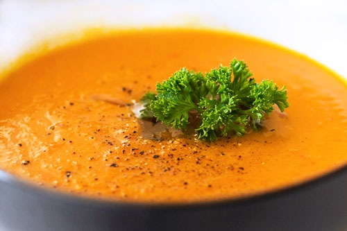 приготовить завтрак | Суп-пюре из моркови и зеленого горошка