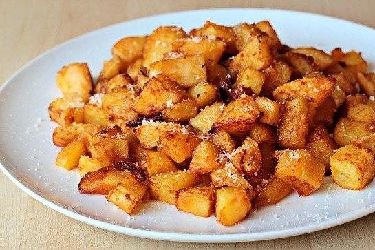 кулинария темы | Жареный в духовке картофель с сыром