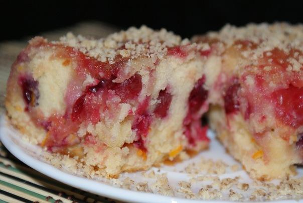 кухня русская | Клюквенно-имбирный пирог