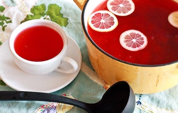 вкусняшки картинки | Клюквенный напиток с корицей, медом и лимоном «Здоровье»