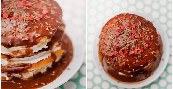 Мини-торт для влюбленных