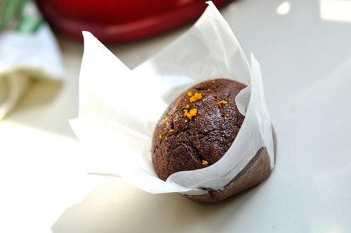 кулинария дома | Постные шоколадные кексы с апельсиновой глазурью