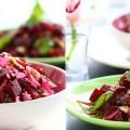 Постный салат из свеклы и риса