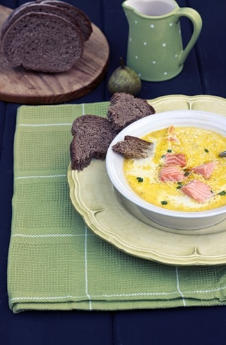 кулинария готовим   Сливочный суп с лососем
