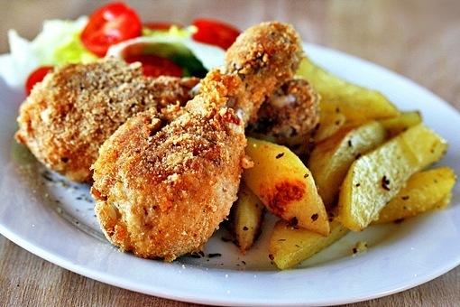 кулинария дома | Хрустящие куриные ножки готовим ужин