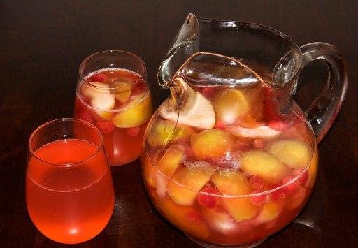 вкусняшки рецепты | Компот из яблок и клюквы