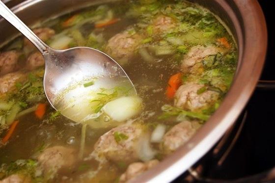 кулинария рецепты   Суп с фрикадельками