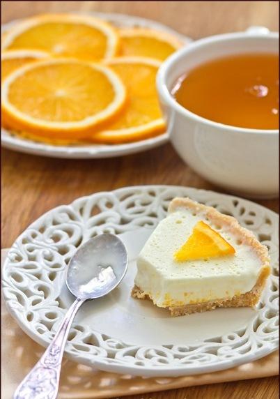 кулинария темы | Апельсиновый торт-мороженое