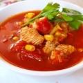 Густой томатный суп с индейкой