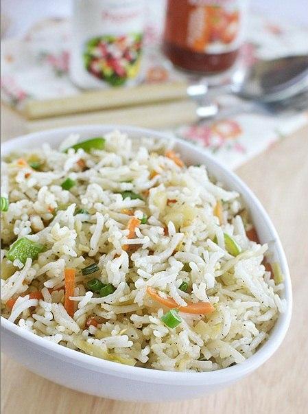 кухня европейская | Жареный рис с овощами по-китайски