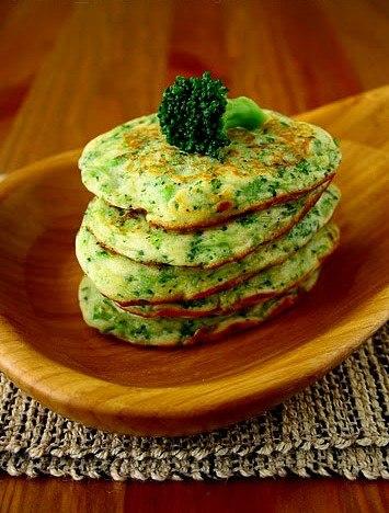 Оладьи из капусты брокколи