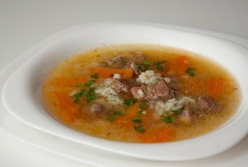 кухня русская | Суп с говядиной и рисом