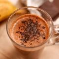 Горячий банановый коктейль с шоколадом!