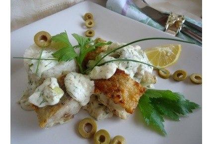 вкусняшки рецепты | Минтай в сливочно-сметанном соусе