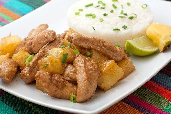 кулинария готовим | Курица с ананасами на ужин