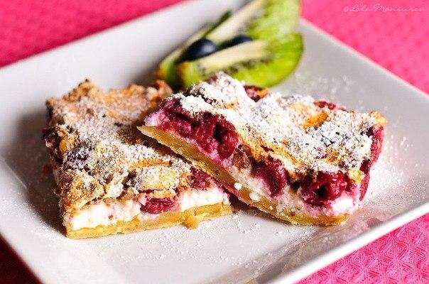 Творожно-вишнёвый пирог
