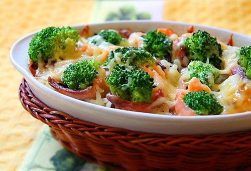Брокколи и цветная капуста с сыром
