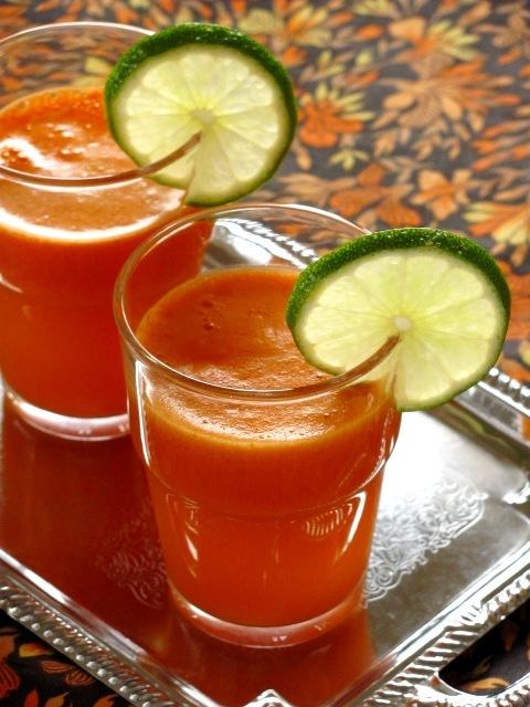 кулинария темы | Морковно-апельсиновый сок с имбирем