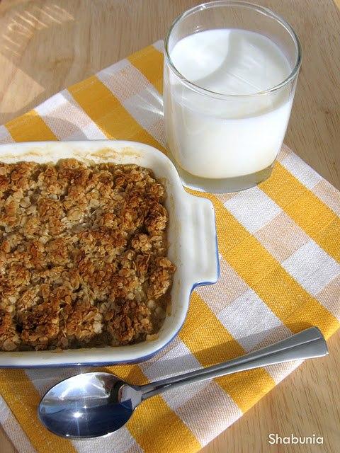 кулинария дома | Крамбль яблочный диетичный