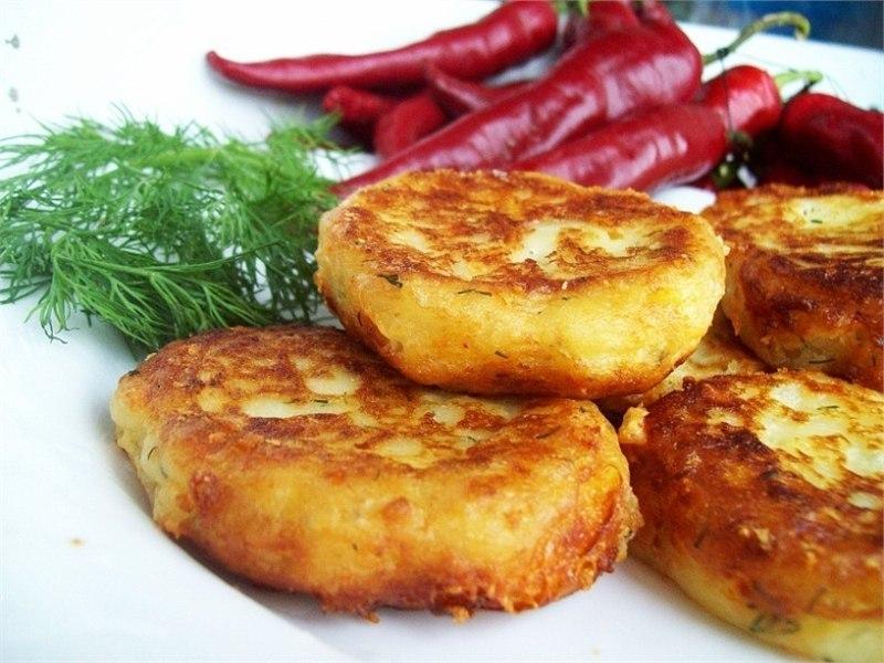 вкусняшки картинки | Картофельные котлеты с сыром и укропом