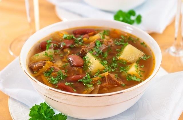 кулинария рецепты | Суп с фасолью