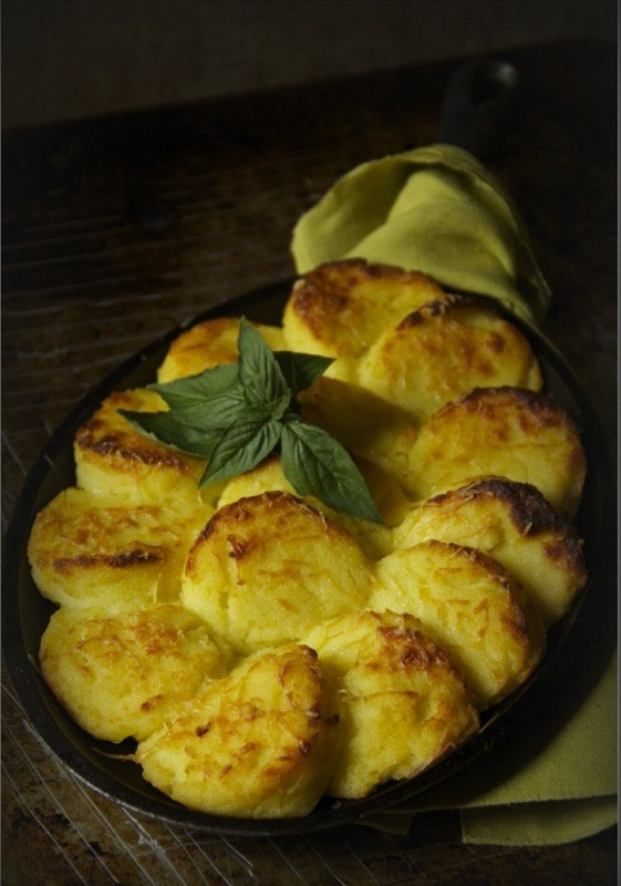 Запеченное картофельное пюре с сыром