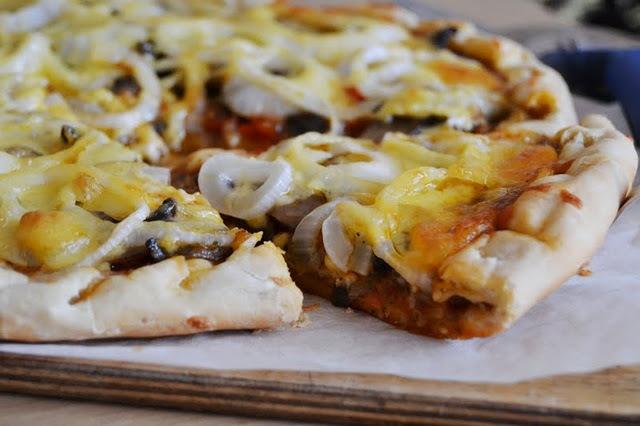 кулинария рецепты | Пицца с грибами