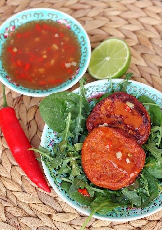 приготовить ужин | Азиатские оладьи из фасоли с соусом чили