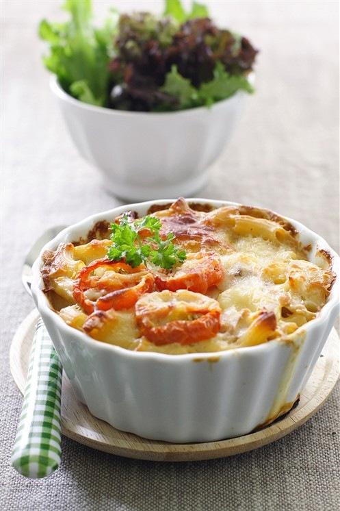 вкусняшки фото | Макароны запеченные с помидорами под сыром