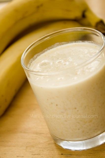 кулинария темы | Смузи с овсянкой и бананом