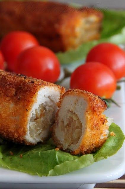 кухня европейская | Куриные рулеты с квашеной капустой