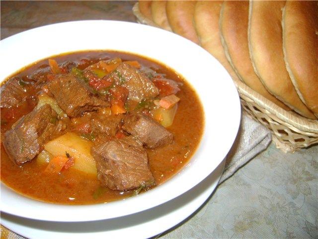 кулинария темы | Гуляш (Суп) по венгерски