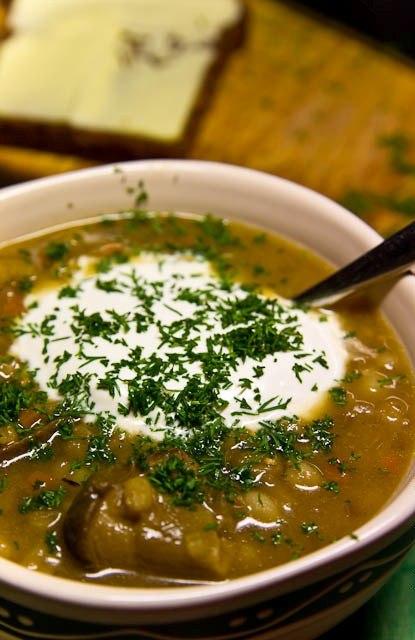приготовить завтрак | Суп из сушеных грибов с перловкой