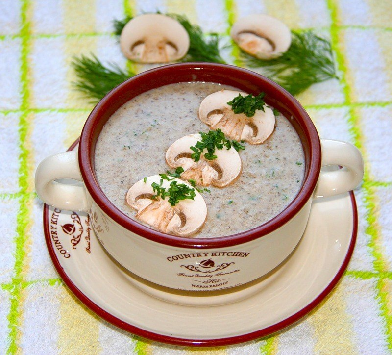 кулинария дома | Крем-суп из шампиньонов