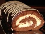 Рулет с кремом из белого шоколада