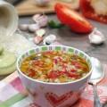 Рисовый суп с шампиньонами
