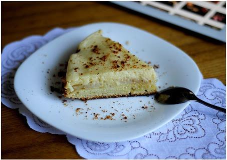 Пирог на песочном тесте с яблоками и творогом