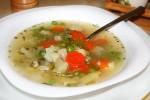 Лёгкий овощной суп с цветной капустой