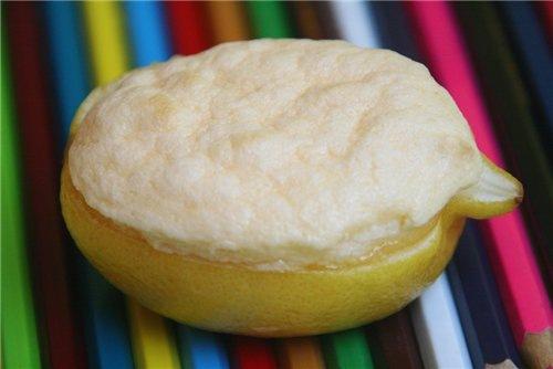 Лимонные корзиночки с суфле