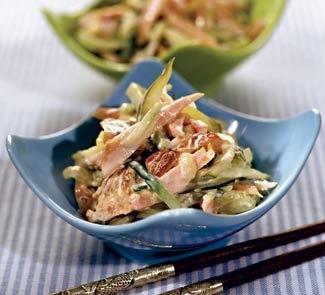 Салат из копченой куриной грудки