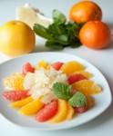 Цитрусовый салат с медовой заправкой