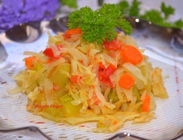 Салат из баклажан и перца