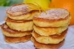 Оладушки кабачково - яблочные на кефире с апельсиновой цедрой