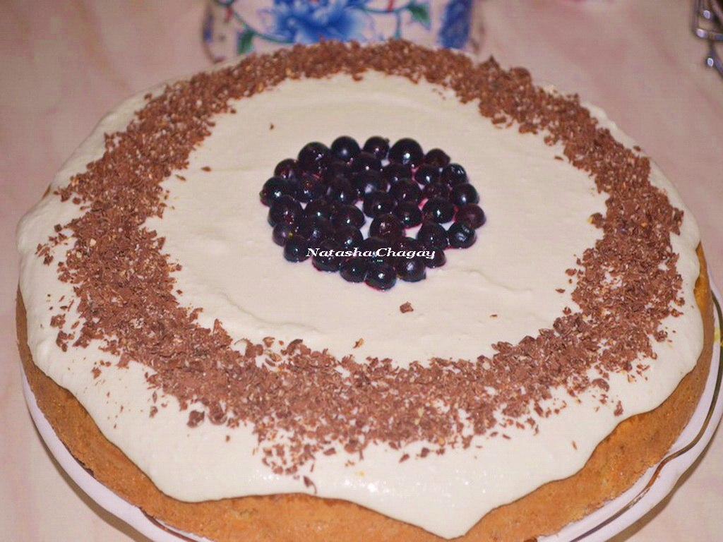 Торт-пирог с творожным кремом