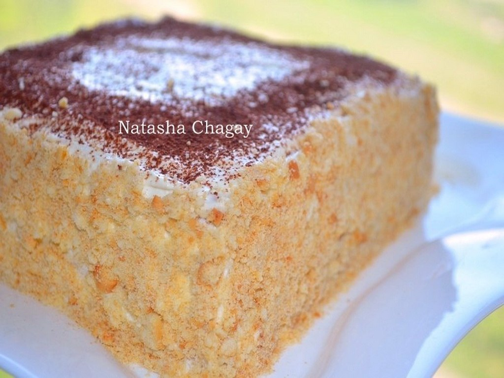 рецепт торта без выпечки из печенья