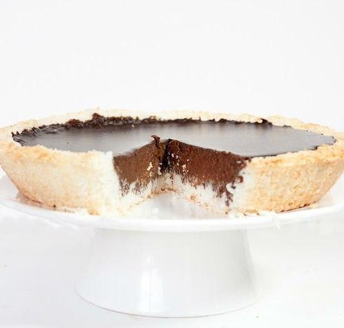 Шоколадно-кокосовый пирог